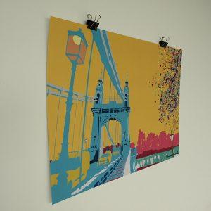 Hammersmith Bridge Pop-Art CMY colourful